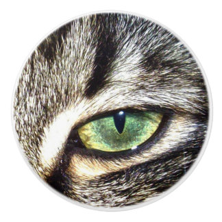 Cats Right Eye, Ceramic Draw Knob. Ceramic Knob