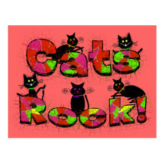 Cats Rock--Cat lovers gifts Postcard