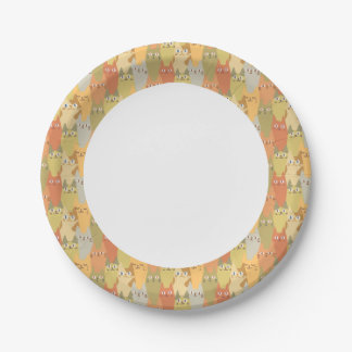 Cats Rule! Kawaii Cute Kitty Cat Neko Gato 7 Inch Paper Plate