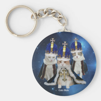 Cats Rule Keychain