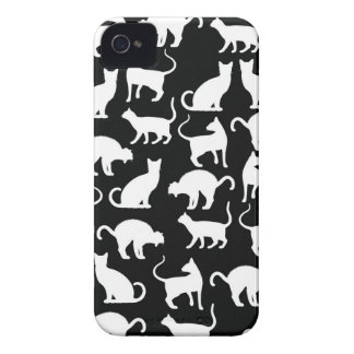 cats silhouette Case-Mate iPhone 4 cases