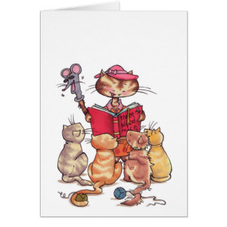 Cats story time notecard