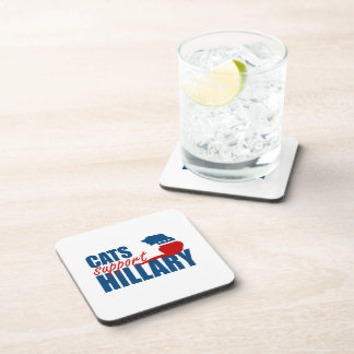 CATS SUPPORT HILLARY BEVERAGE COASTER