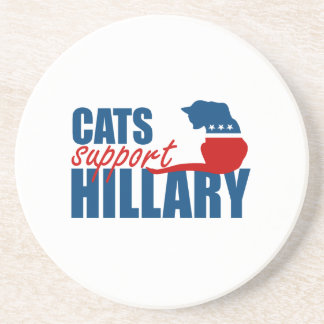 CATS SUPPORT HILLARY BEVERAGE COASTERS