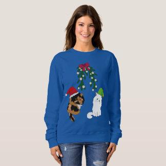 Cats under the Mistletoe Sweatshirt