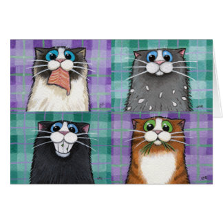 Cats Up To No Good Greeting Card