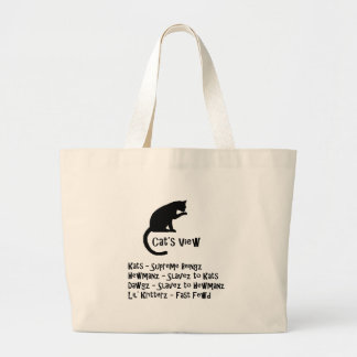 Cat's View Funny Tote