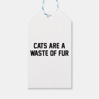 Cats Waste of Fur Gift Tags