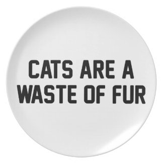 Cats Waste of Fur Plate