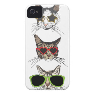 Cats Wearing Sunglasses Case-Mate iPhone 4 Case