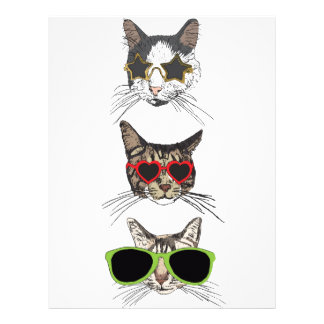 Cats Wearing Sunglasses Letterhead