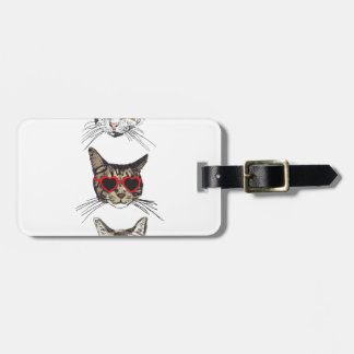 Cats Wearing Sunglasses Luggage Tag