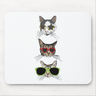 Cats Wearing Sunglasses Mouse Pad