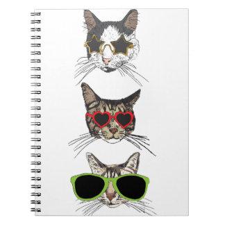Cats Wearing Sunglasses Notebook