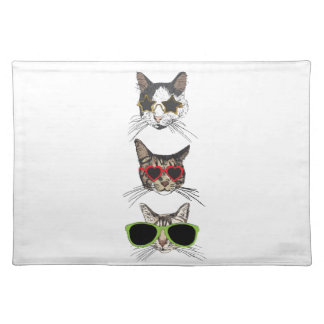Cats Wearing Sunglasses Placemat