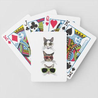 Cats Wearing Sunglasses Poker Deck