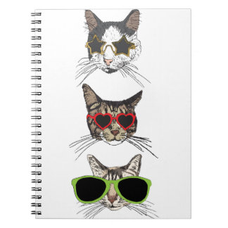 Cats Wearing Sunglasses Spiral Notebook