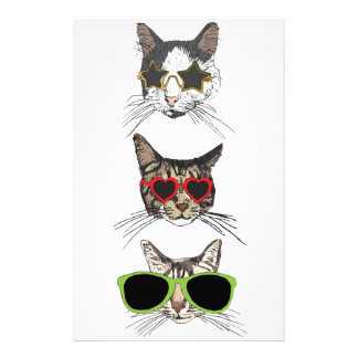 Cats Wearing Sunglasses Stationery