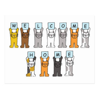 Cats welcome home card