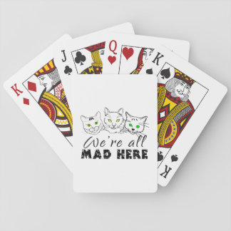 Cats - We're All Mad Here Poker Deck