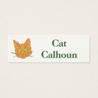 Cat's Whiskers Mini Business Card