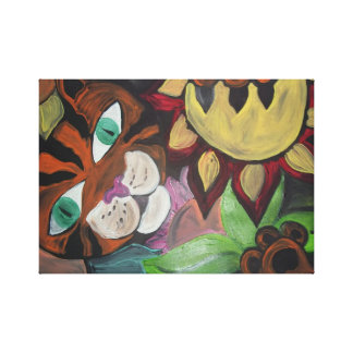 Cat's Wild Garden Canvas Print