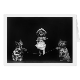 Cats with Doll Card