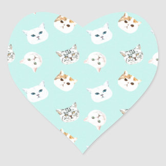 Cats World Heart Sticker
