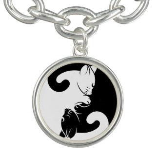 Cats yin yang bracelet