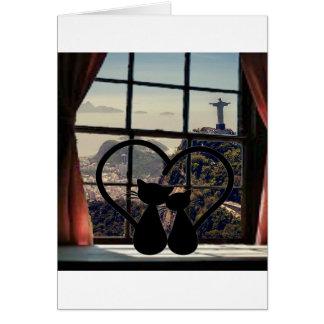 catsin love in Rio De Janeiro Card