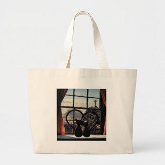 catsin love in Rio De Janeiro Large Tote Bag