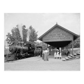Catskill Mountains Railroad Station, 1902 Postcard