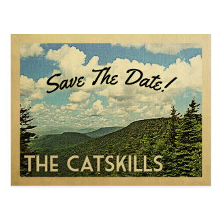 Catskills Mountains Save The Date Vintage Postcard