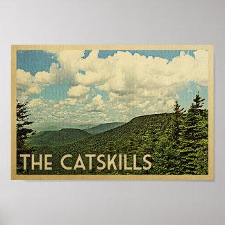 Catskills Poster - Mountains Vintage Travel Print
