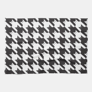 CatsTooth Black and White Kitchen Towel