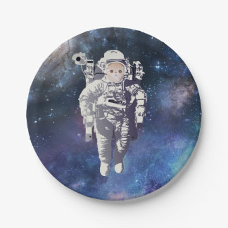 Catstronaut - Cat in Space Paper Plate