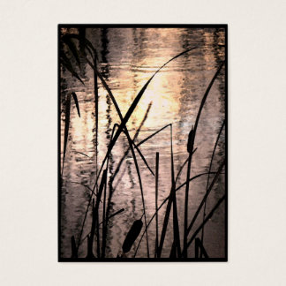 Cattails at Sunset ATC Business Card