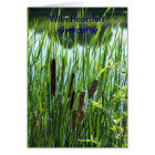 Cattails At The Pond, Sympathy Card