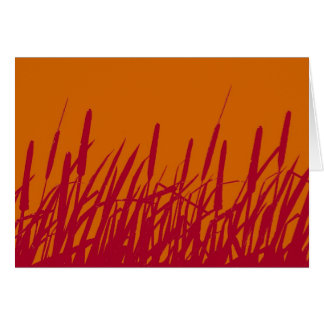 Cattails Silhouette Blank card