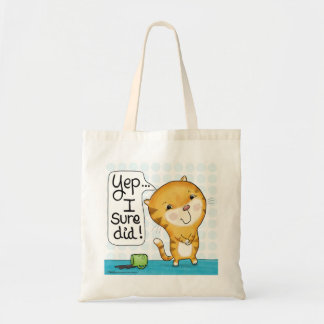 Cattitude- Cat Spills Coffee Tote Bag