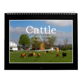 Cattle 2017 Monthly Calendar By Thomas Minutolo