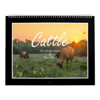 Cattle 2018 Monthly Calendar By Thomas Minutolo