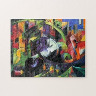 Cattle by Franz Marc, Vintage Abstract Fine Art Jigsaw Puzzle