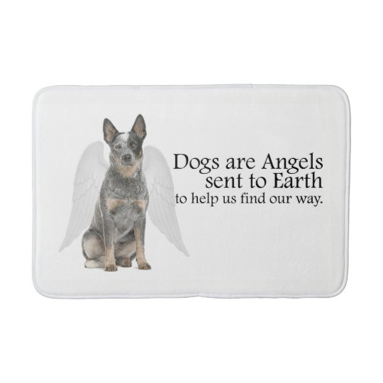 Cattle Dog Angel Bath Mat