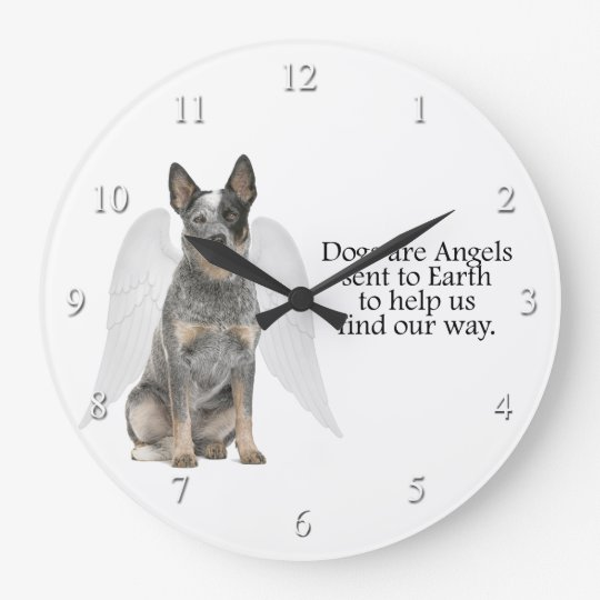 Cattle Dog Angel Clock