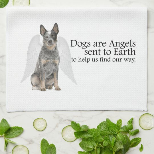Cattle Dog Angel Kitchen Towel
