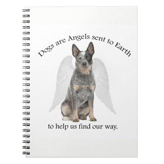 Cattle Dog Angel Notebook