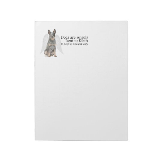 Cattle Dog Angel Notepad