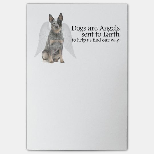 Cattle Dog Angel Post-It Notes