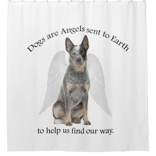 Cattle Dog Angel Shower Curtain